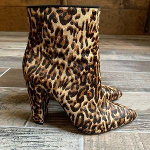 Jessica Simpson Leopard High Heel Booties